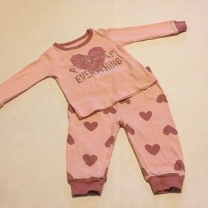 Children's Place 3-6 Month Girls Pajama Set